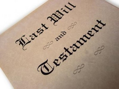 Sample last will and testament