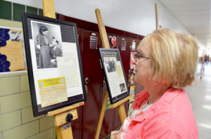 Display boards of Sala's letters were brought to MCHS through a grant from CFGC
